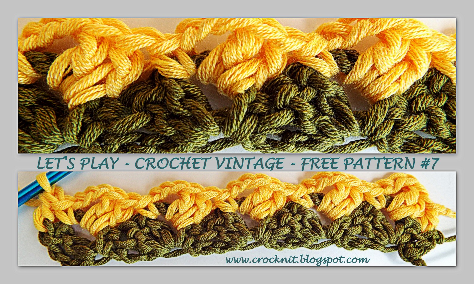 MICROCKNIT CREATIONS: LETS PLAY - CROCHET VINTAGE - FREE PATTERN #7