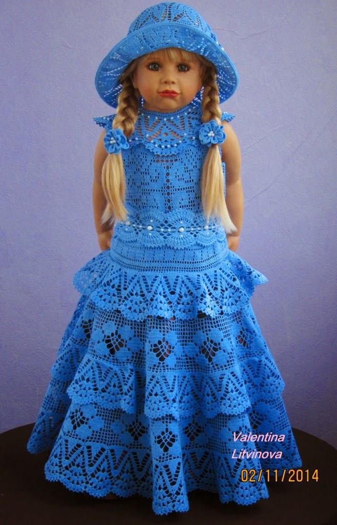 юбка крючком для девочки 7 лет: