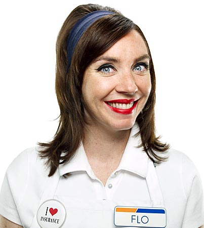 Fakes flo progressive stephanie courtney