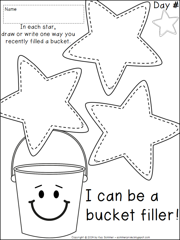 Free coloring pages of fill a bucket