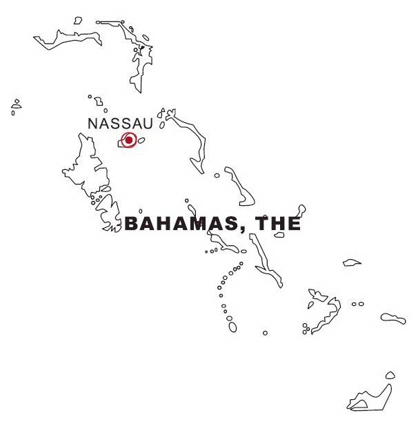 Bahamas Map Coloring Page