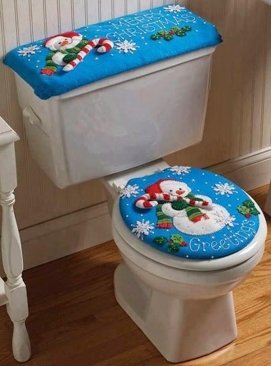Juegos De Baño Originales: : ¡Decora tu baño con un original juego de baño de Navidad
