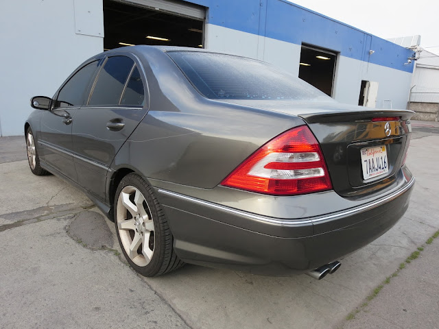 2007 Mercedes before color change from grey to silver at Almost Everything Auto Body