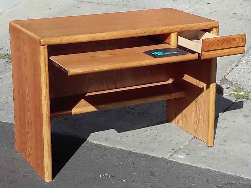UHURU FURNITURE & COLLECTIBLES: SOLD Oak Computer Desk