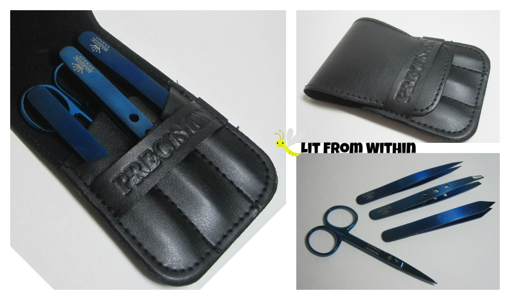 Precision Grooming Set by Majestic Bombay and protective faux leather case
