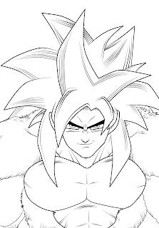 Desenhos do Goku imprimir