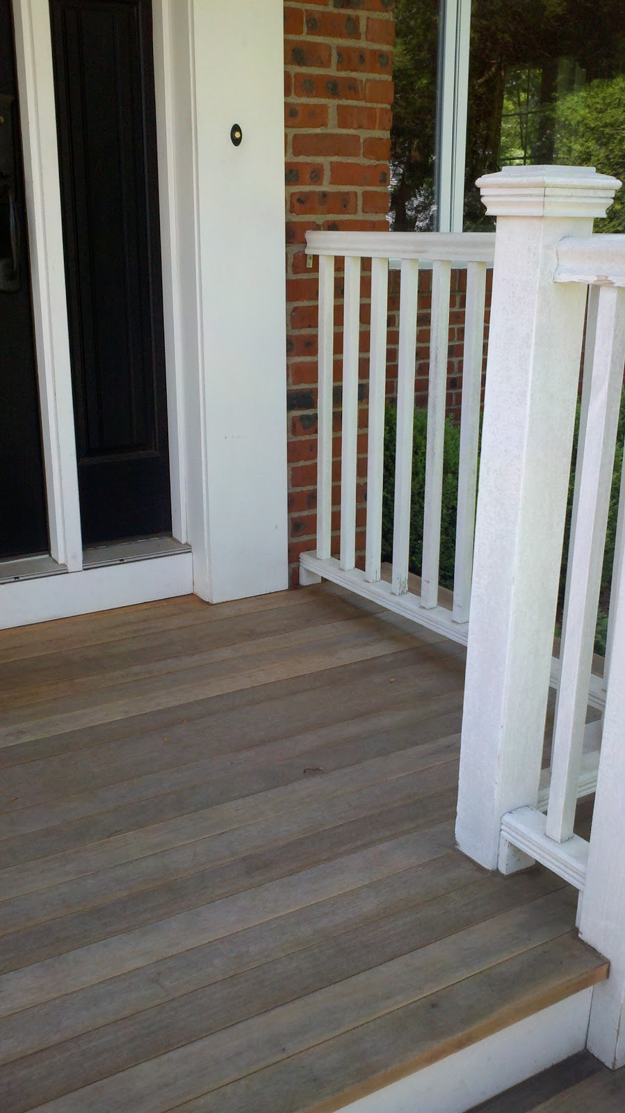 Rokel painting deck refinishing entranceway rejuvenation the deck finish had worn away the wood had a gray coloration and the paint was peeling the information written below is a general outline of what to do baanklon Images