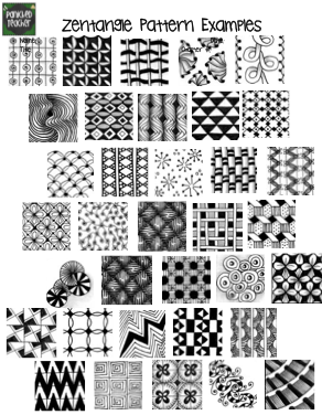 how to draw simple zentangle patterns