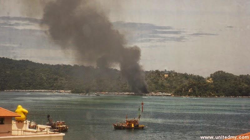 Pulau Gaya-Kota Kinabalu Island-fire-November 6-2014