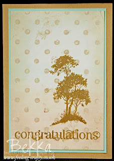 Serene Silhouettes Congratulations Card - Includes a Video Tutorial on how to make the background