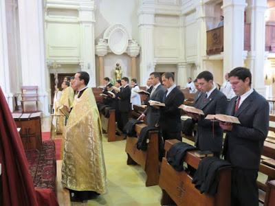 Catholic Seminarians La Reja Receive Cassock
