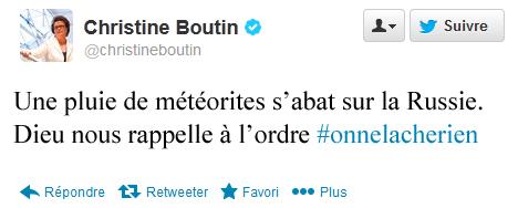 prochain tweet de Christine Boutin