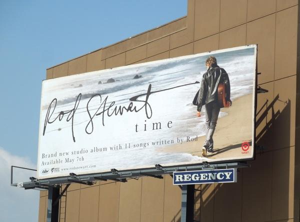 Rod Stewart Time album billboard