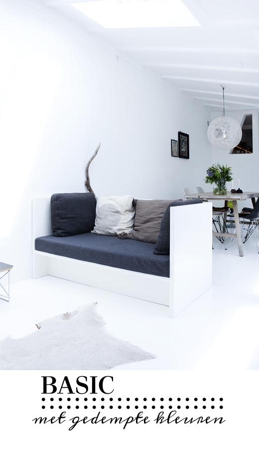 Basic wonen geeft rust en ruimte in je huis villa d 39 esta interieur en wonen - Houten lamp vloot huis van de wereld ...
