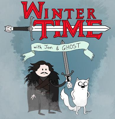 Hora de aventuras con Jon el bastardo y fantasma el huargo - Juego de Tronos en los siete reinos