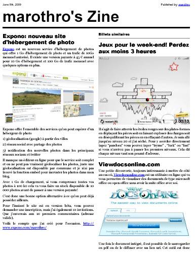 webzine publiez votre blog en format pdf et format magazine