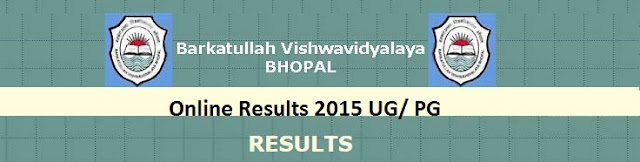 Barkatullah University 2015 results