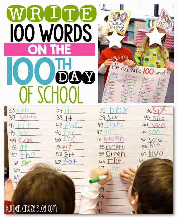 write 100 words to celebrate the 100th day of school