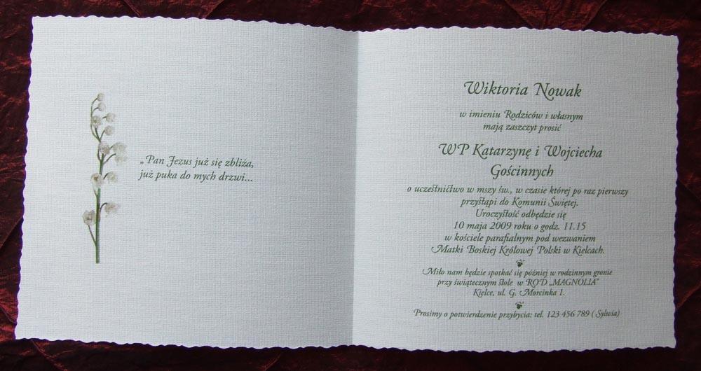 Zaproszenia Wydawnictwa Cedro I Synowie Kwietnia 2011