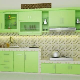 Ari Tukang Kayu Interior Semarang Kitchen Set Hijau Hpl