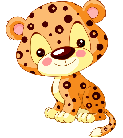 Cute leopard emoticon