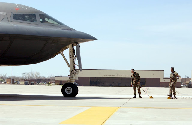 B-2 taxi on the ground.