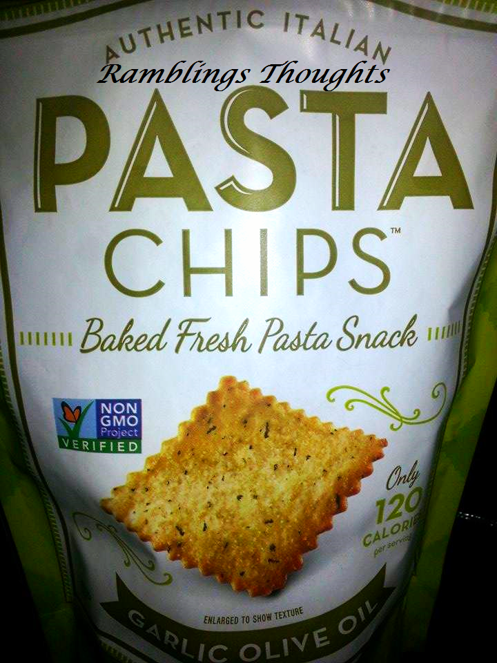Ramblings Thoughts, Pasta Chips, Video, Review, Klout, Healthy Eating, Snacks