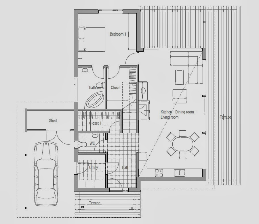 Affordable home plans affordable home plan ch51 for Affordable housing floor plans