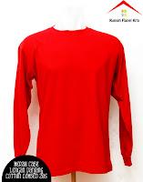 Jual Kaos Polos Lengan Panjang merah