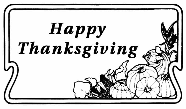 happy thanksgiving coloring pages - photo#17