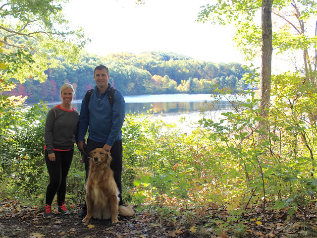 Hiking the Pequot Trails with your dog Lantern Hill Pond #walktober