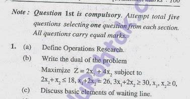 Last Minute Study for Mumbai University s MCA     Operation     Visvesvaraya Technological University