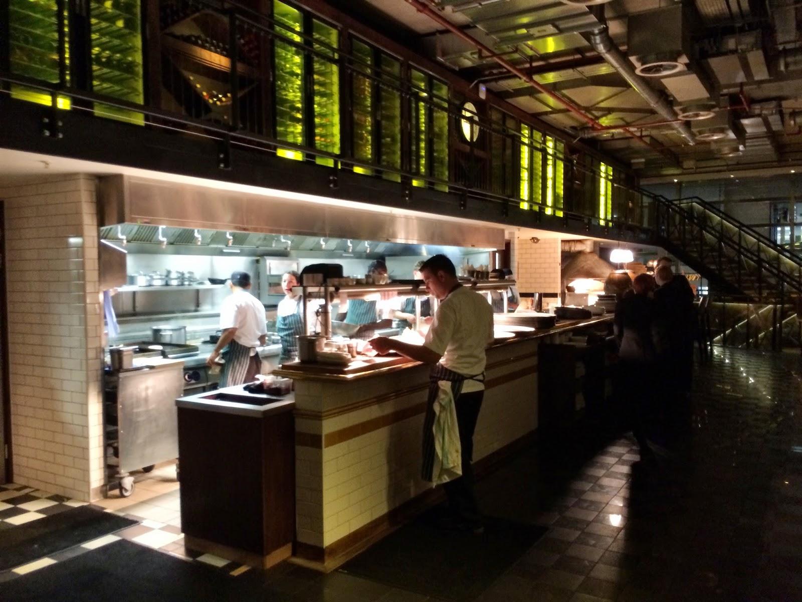 The kitchen area - Bread Street Kitchen, London
