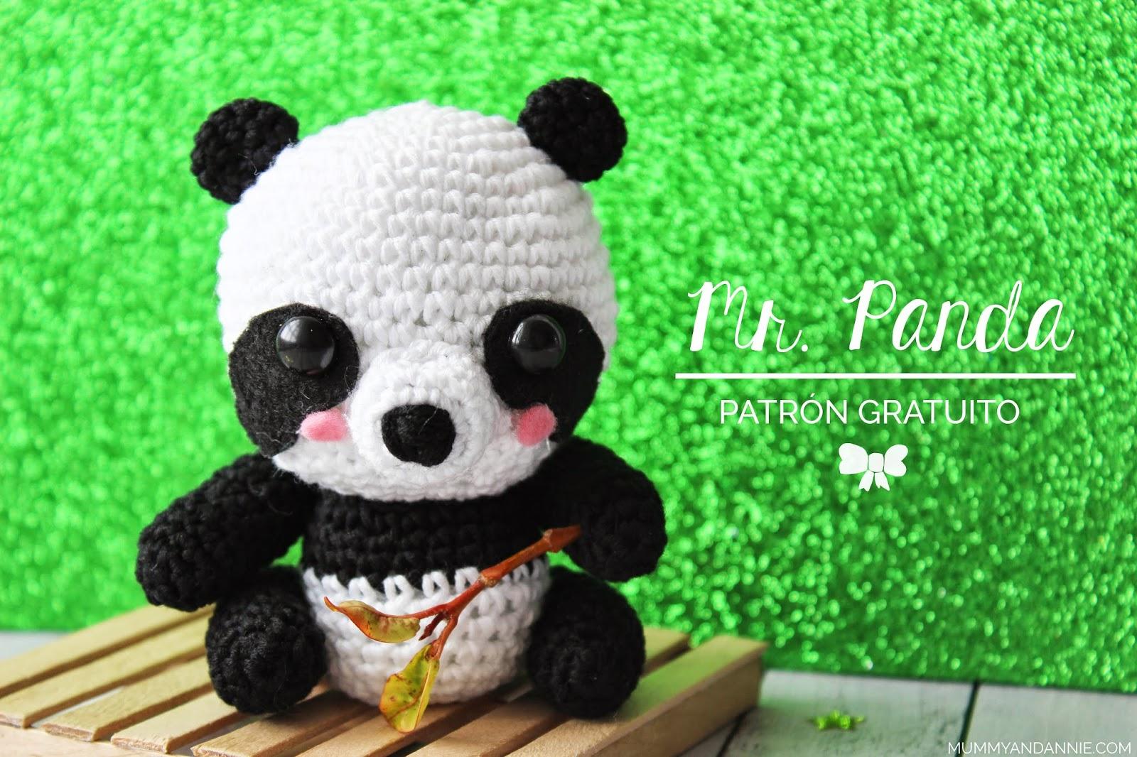 Amigurumi Oso Panda Patron : Mummy and annie mr panda patrÓn gratis