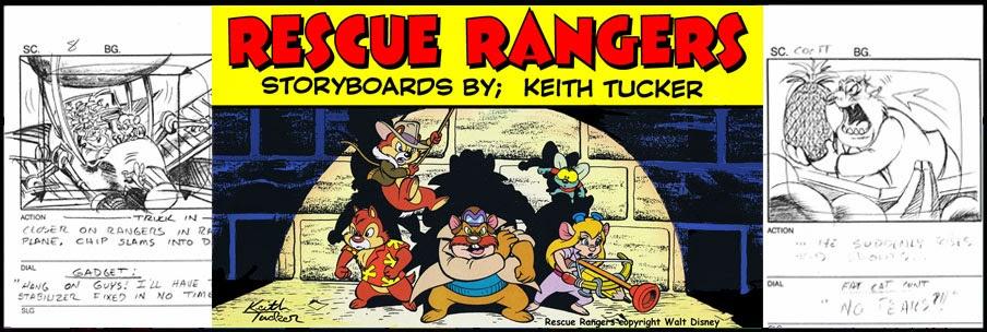 Keith Tucker 80's cartoons Storyboard Art