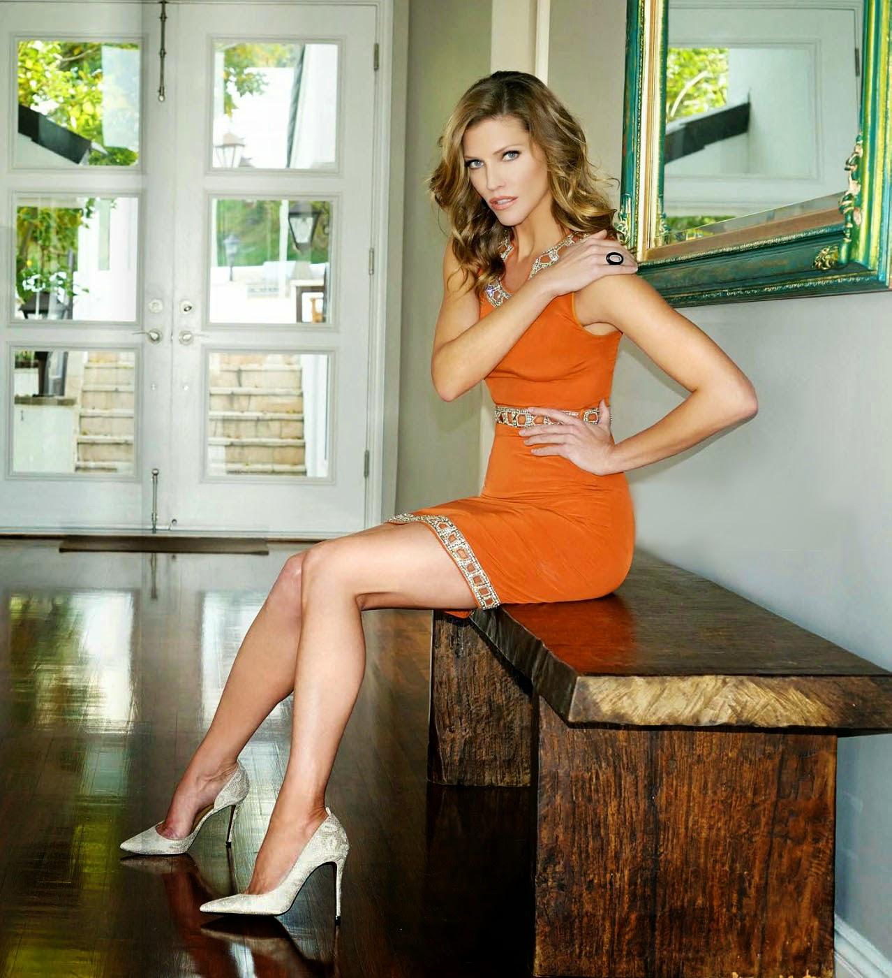 Tricia Helfer hot legs in high heels
