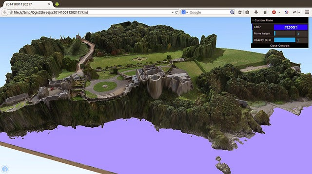Qgis, Ortofotografía a partir de datos obtenidos por vehículos aéreos no tripulados
