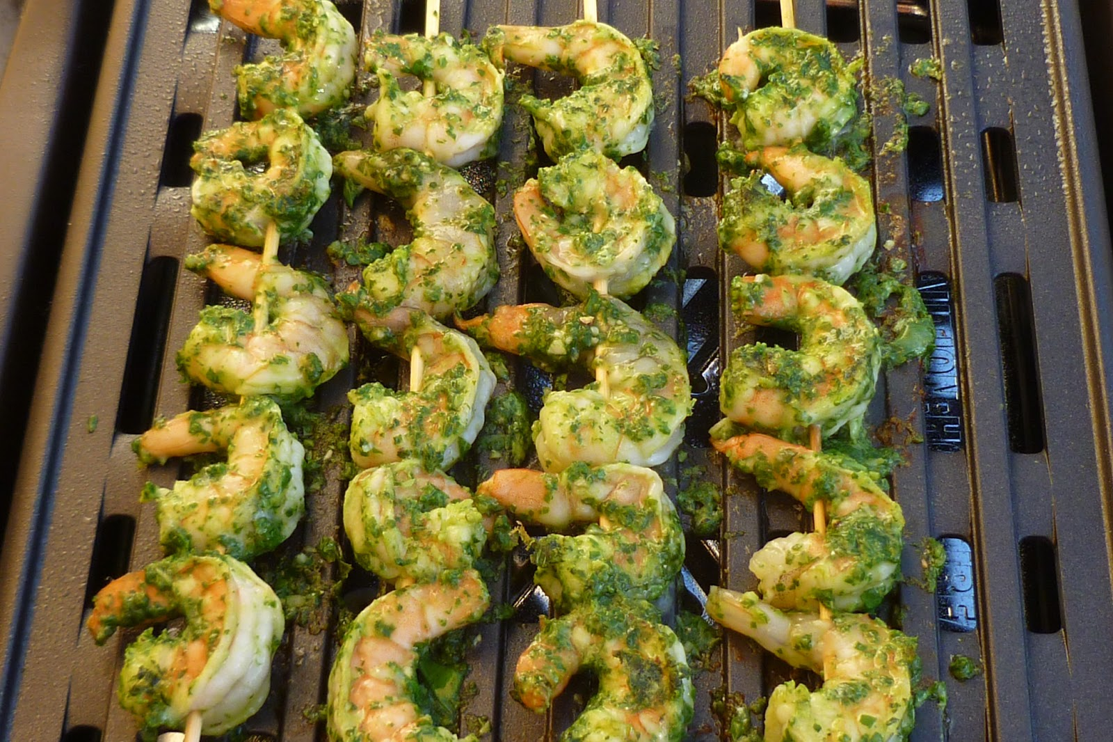 The Pastry Chef's Baking: Grilled Pesto Shrimp Skewers