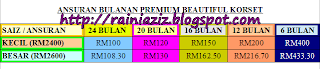 BAYARAN ANSURAN KORSET PREMIUM BEAUTIFUL