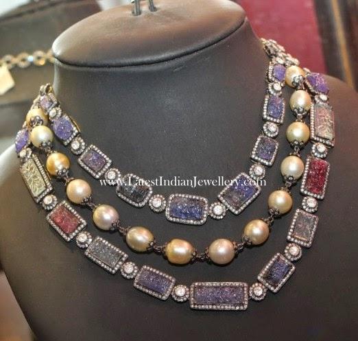 Stylish Sapphires Necklace from Amrapali