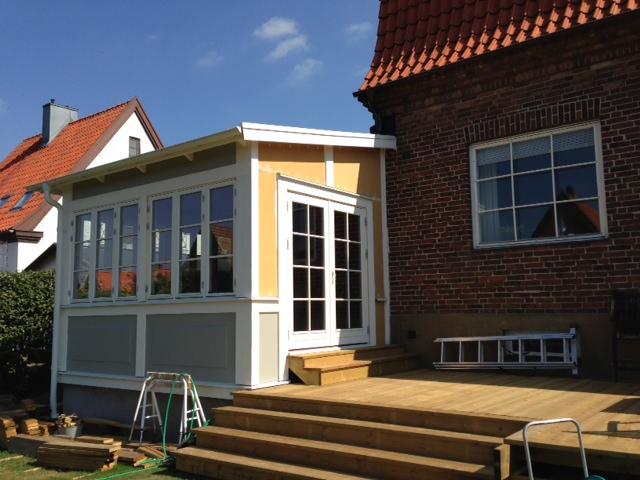 Måln]pyssel, husrenovering och våra två prinsessor: status veranda ...