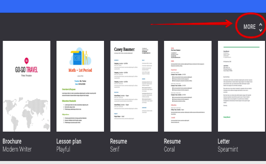 google doc templates resume