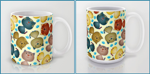 Cute Cats with Paws Mug