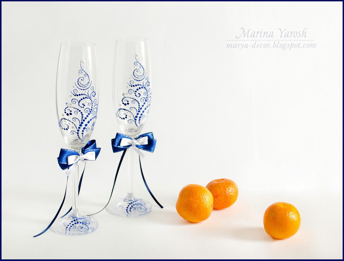 Трафареты для свадебных бокалов своими руками