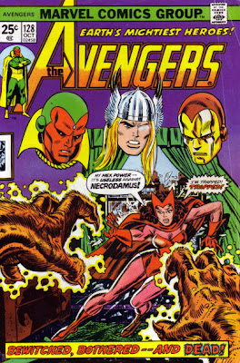 Avengers #128, the Scarlet Witch vs Necrodamus
