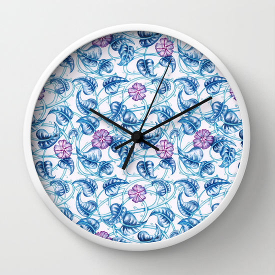 floral_pattern_clock