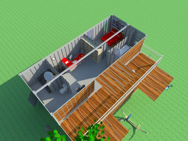 Casas contenedores modelo de casa contenedor y v deo en 3d for Maison container que choisir