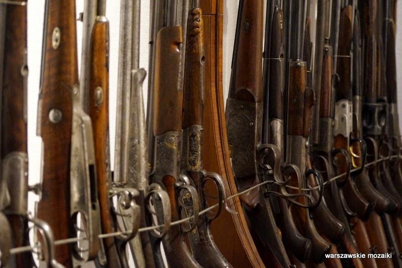 Łazienki Królewskie Warszawa zwierzęta polowanie broń