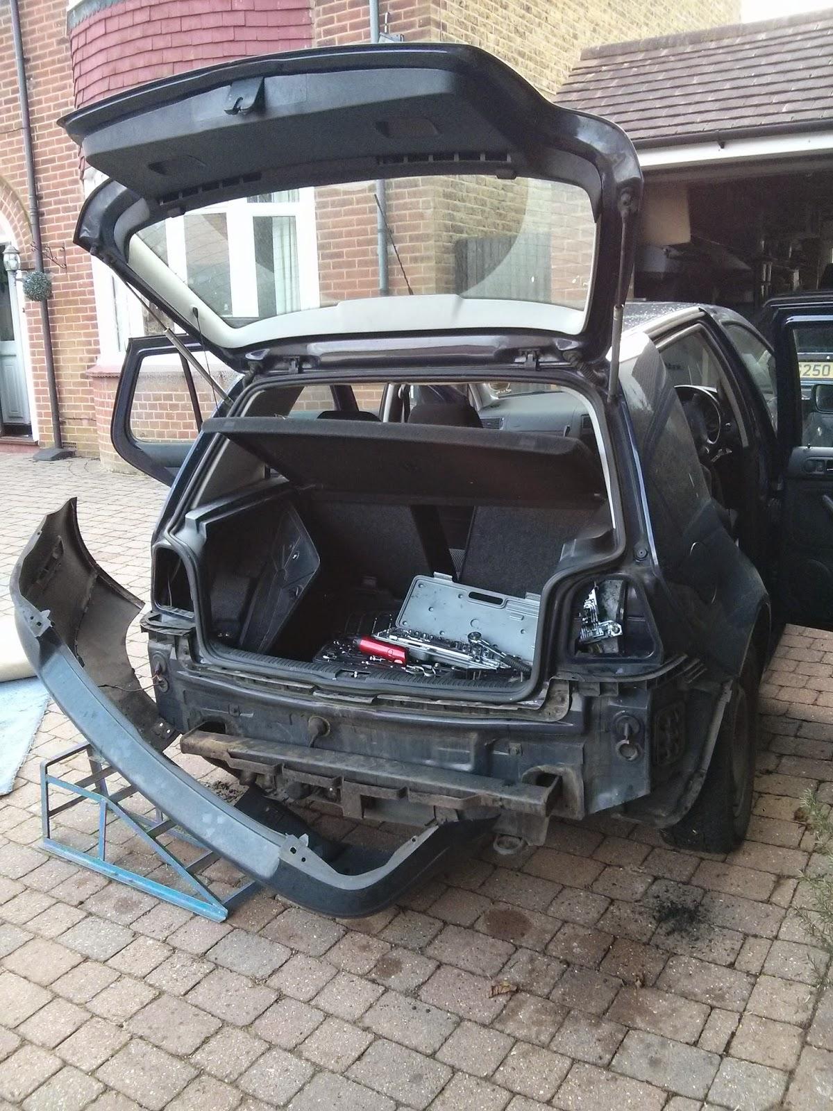 VW Golf MK4 rear bumper removal