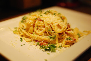 Carbonara, Roman Style, food from Rome's Secret Supper Club